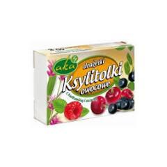 Ksylitolki drażetki pudrowe owocowe z kurkuminą i acerolą 40 g AKA