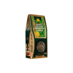 Herbata zielona z żeń-szeniem i cytryną 100g Natura Wita