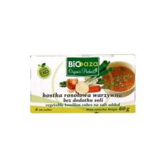 Kostka rosołowa warzywna bez soli 66 g BioOaza