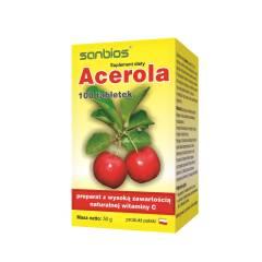 Acerola 500 mg 100 tabletek Sanbios