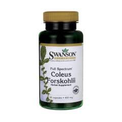 Forskolina Pokrzywa Indyjska Coleus Forskohli 400 mg 60 kapsułek Swanson