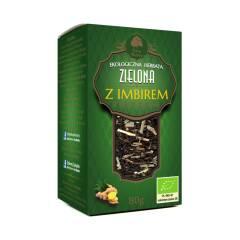 Herbata zielona z imbirem EKO 80 g Dary Natury