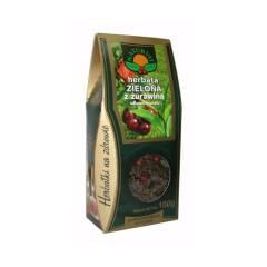 Herbata zielona z żurawiną i kwiatem granatu 100 g NATUR-VIT