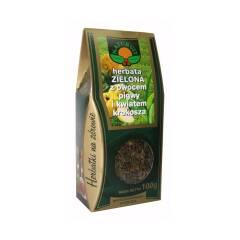 Herbata zielona z owocem pigwy i kwiatem krokosza 100 g NATUR-VIT