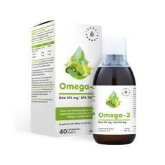 Omega-3 (370 DHA i 700 EPA) w płynie 200ml Aura Herbals