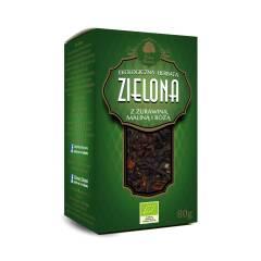 Herbata zielona z żurawiną maliną i róża EKO 80 g Dary Natury