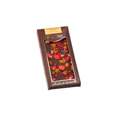 Czekolada gorzka 70,4% pigwa i truskawka 85 g Pelczar