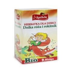 Herbatka dla dzieci Dzika Róża i Rokitnik na Odporność BIO 20*1,5g saszetek powyżej 9m Apotheke