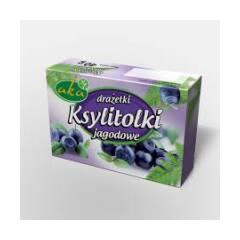 Ksylitolki drażetki pudrowe jagodowe 40 g AKA